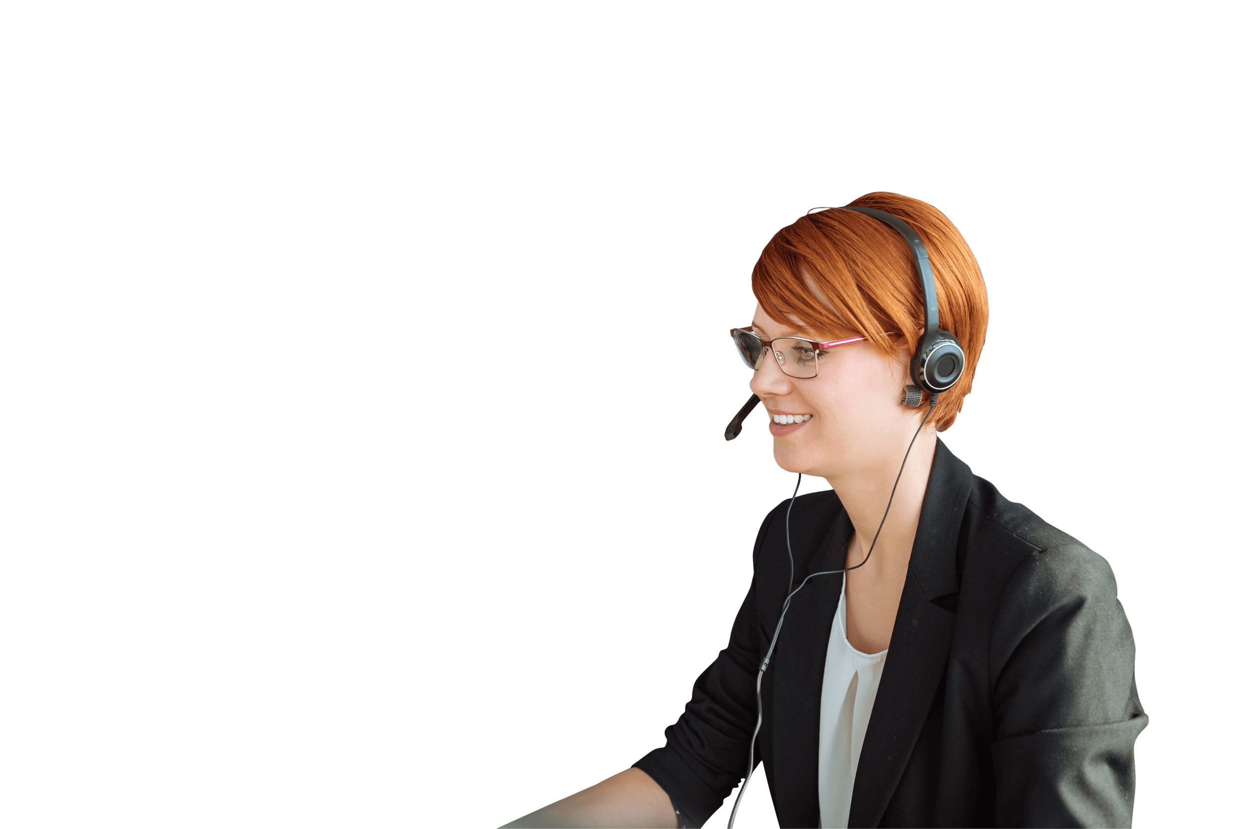 Industrial Temporaries Woman with Headset in Call Centre